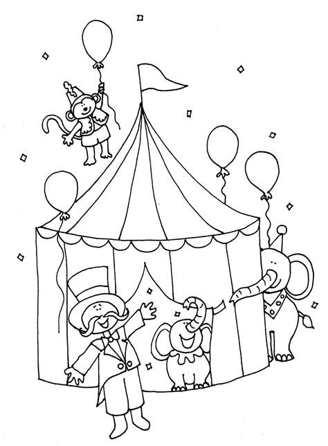 circus coloring pages getcoloringpagescom