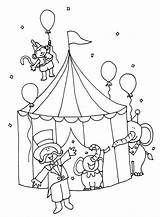 Circus Coloring Printable Tent Carnival Animals Getcoloringpages sketch template