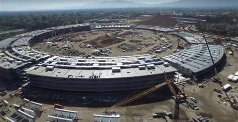 Apples Headquarters New Pictures by A Drone Above Apple S New Spaceship Headquarters Got