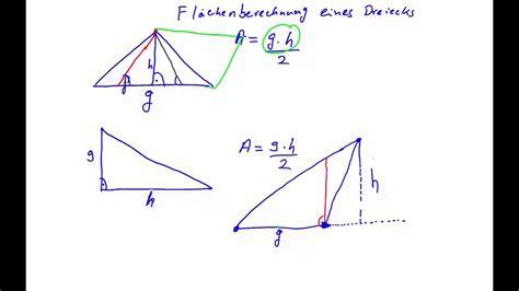 mathe flaeche eines dreiecks berechnen youtube