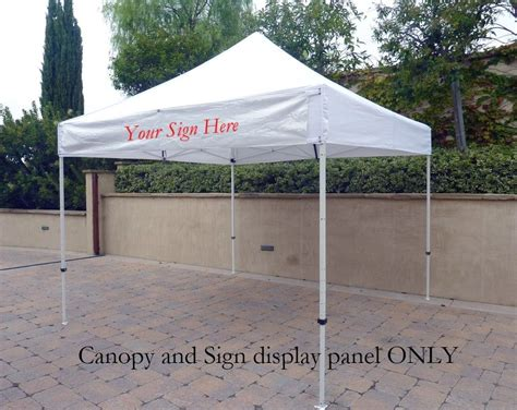 ez   gazebo tent canopy replacement canopy top wdetachable sign display panel  flag