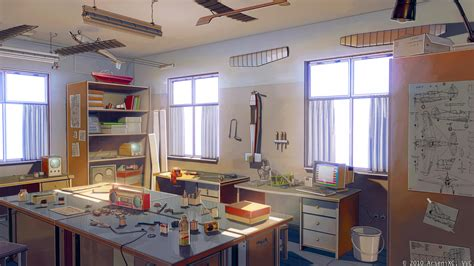 Anime Room Wallpaper - 1920x1080 anime room building inside wallpapers
