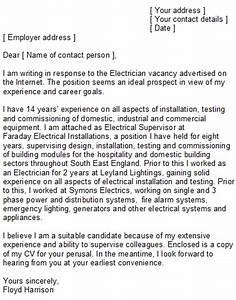 electrician cover letter sample With how to write a cover letter for electrician apprenticeship