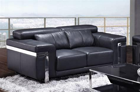 canape cuir de qualite canapé 2 places en cuir italien astoria noir mobilier privé