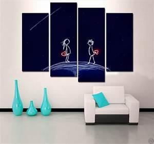 Tableau Deco Maison : tableau romantique love life ~ Teatrodelosmanantiales.com Idées de Décoration