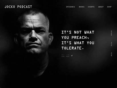 Jocko Podcast Willink Website Dribbble Liam King