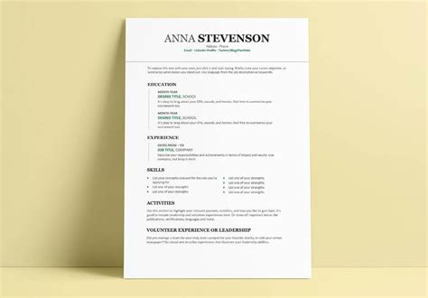student resume templates 15 exles to and use now