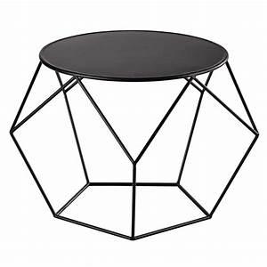 Table En Metal : table basse ronde en m tal noire prism maisons du monde ~ Teatrodelosmanantiales.com Idées de Décoration