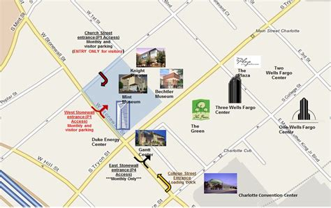 directions to nittany parking deck duke energy center parking map