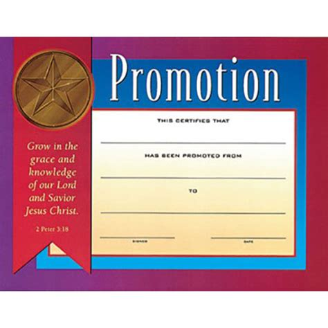 This Certificate Certifies The Completion Of Sunday School Children S Certificate Of Promotion Children S Ministry