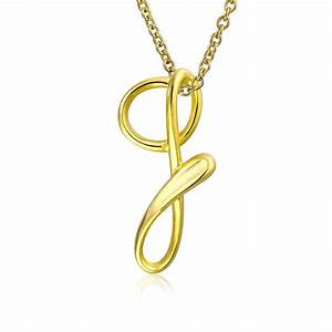 gold plated silver letter g script initial pendant With letter g pendant