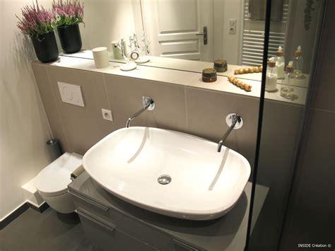 robinetterie murale salle de bain carrelage grand format salle de bain inside cr 233 ation