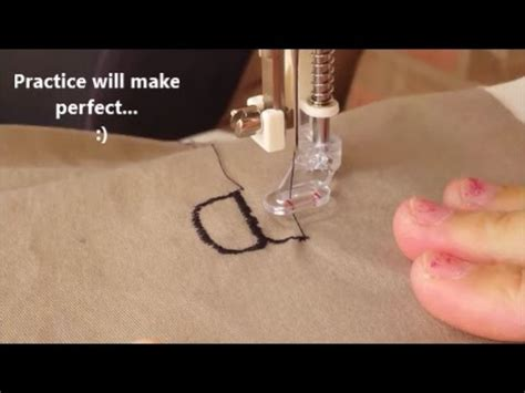 freehand embroidery  regular sewing machine   motion embroidery foot youtube