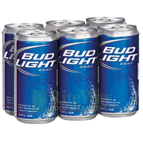 Bud Light 6 Pack by Riteway Food Markets Bud Light Can 6 Pack
