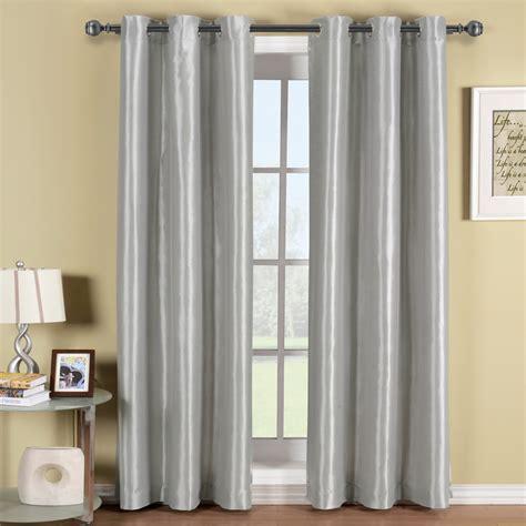 Sleek Light Grey Grommet Blackout Curtain For Living Room