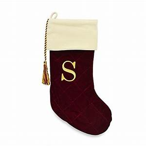 harvey lewistm letter quotsquot monogram christmas stocking made With single letter monogram christmas stockings