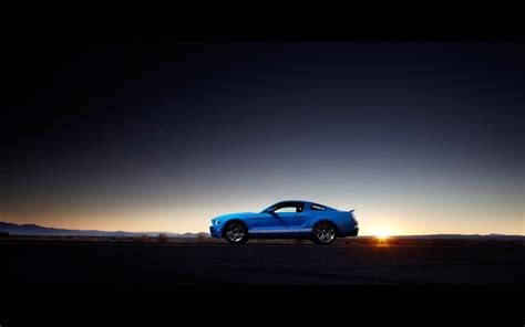 ford mustang shelby gt muscle cars sunset wallpaper
