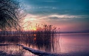 Beautiful Lake Sunset HD Wallpapers for Computer Desktop ...