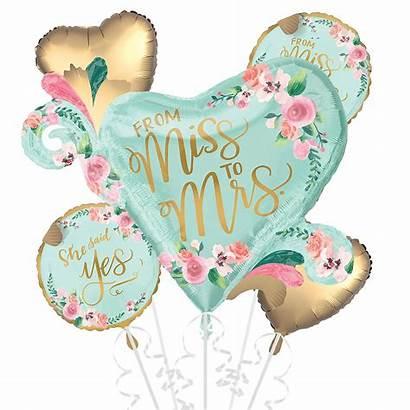 Bridal Balloon Shower Bouquet Mint Balloons 5pc