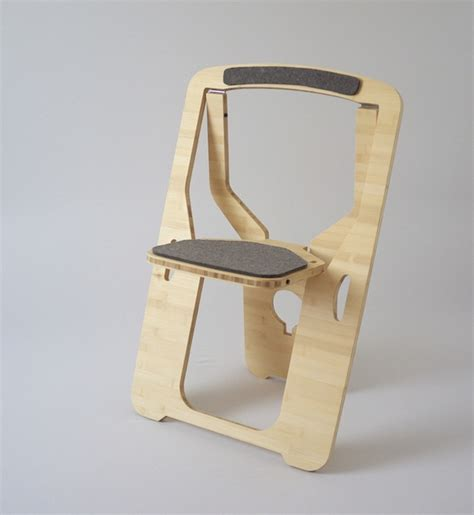 flat pack chair cut from a single of wood pics psfk