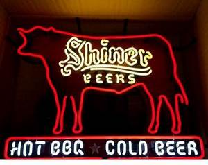 2017 Shiner Hot Beer Texas Barbeque Cold Beer Neon Sign