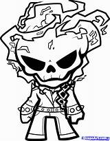 Coloring Ghost Rider Popular sketch template