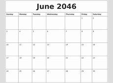 June 2046 Printable December Calendar