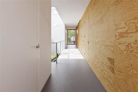 minimalist home  pine ply  feature design element