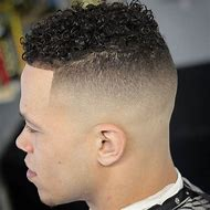 Men Haircuts Fades with S Curl