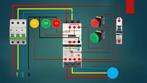 Three Phase Dol Starter Control Overload Indicator Power