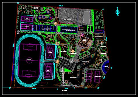 recreational sports complex dwg full project  autocad
