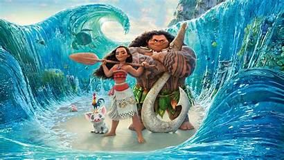 Animation Moana Maui Movies Wallpapers 8k