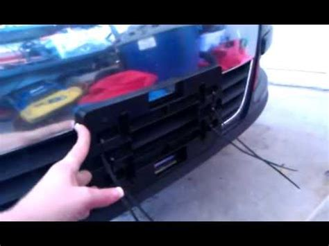 Install no drill front license plate holder Volkswagen ...