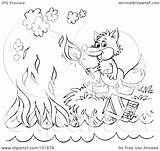 Fox Outline Coloring Clipart Royalty Match Lighting Illustration Rf Bannykh Alex Copyright Notes Without 2021 sketch template
