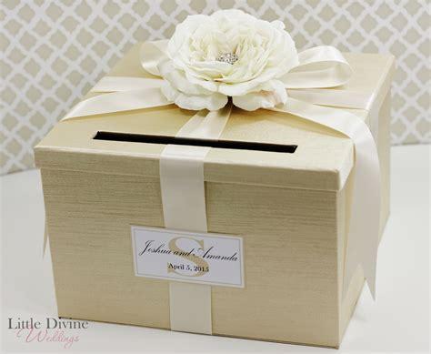 wedding card box wedding card box chagne gold ivory holder