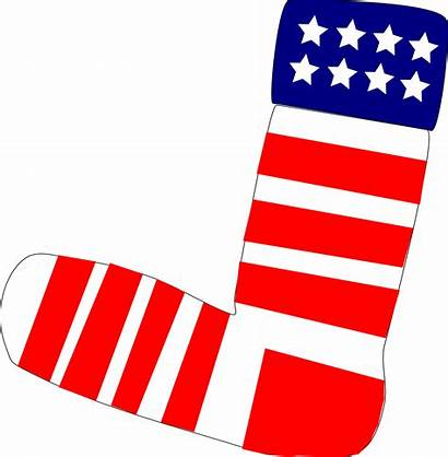 Clip Clipart Patriotic Socks Sock Flag American