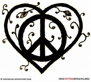 Heart peace tattoo design, pinned to remind me of this ...