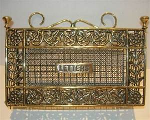 decorative antique english brass wall hanging letter rack With decorative wall letter holder
