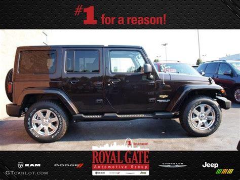 dark brown jeep 2013 rugged brown pearl jeep wrangler unlimited sahara 4x4