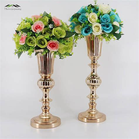 cm gold tabletop vase metal flower vase table