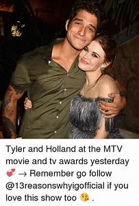 Tyler and Holland at the MTV Movie and Tv Awards Yesterday ...