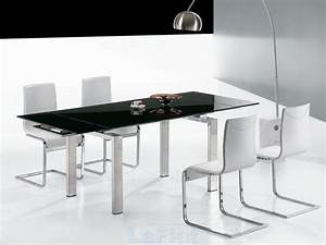 Favored black and white dining room decors with square for Modern dining room black and white
