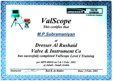 dresser masoneilan valves pvt ltd darvico quality personal certification