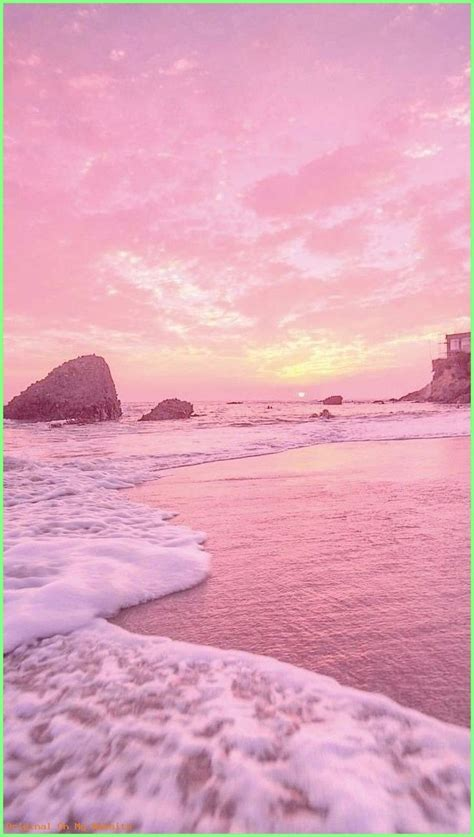 aesthetic pink landscape wallpapers