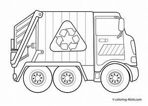 Garbage Truck – Coloring Pages for Kids Free - Free ...