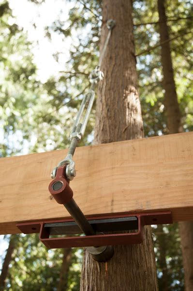 treehouse attachment bolt suspender system    tree