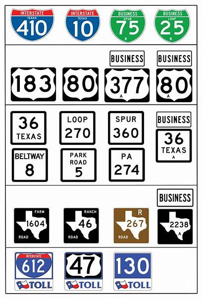 Sign Guide State Txdot Signs Route Dot