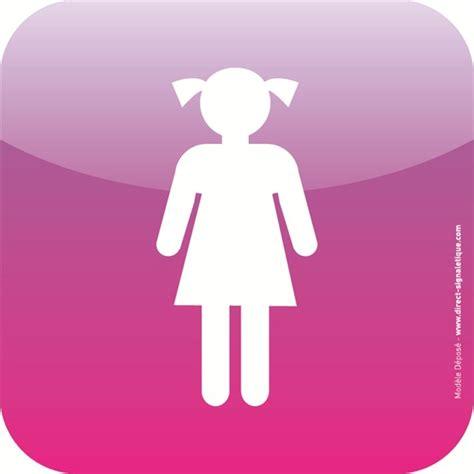 plaque de porte icone 174 toilettes filles direct signal 233 tique