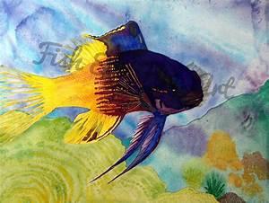 Tropical Fish Watercolor Art