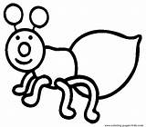 Coloring Bugs Bug Printable Sheets Simple sketch template